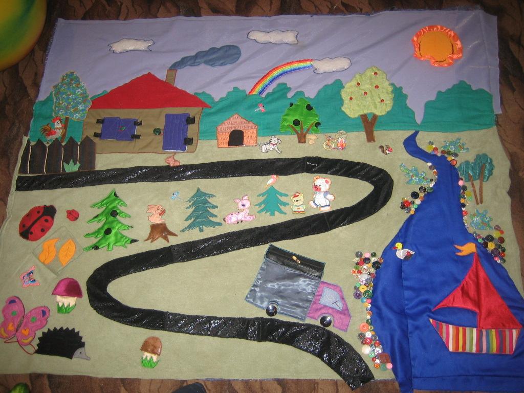Как сделать развивающий коврик для ребенка своими руками фото