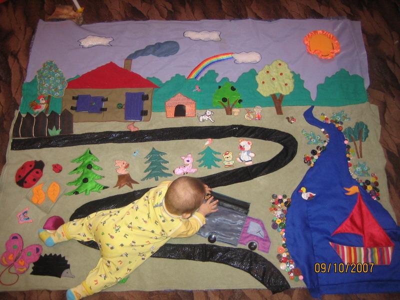 Развивающие коврики своими руками до года